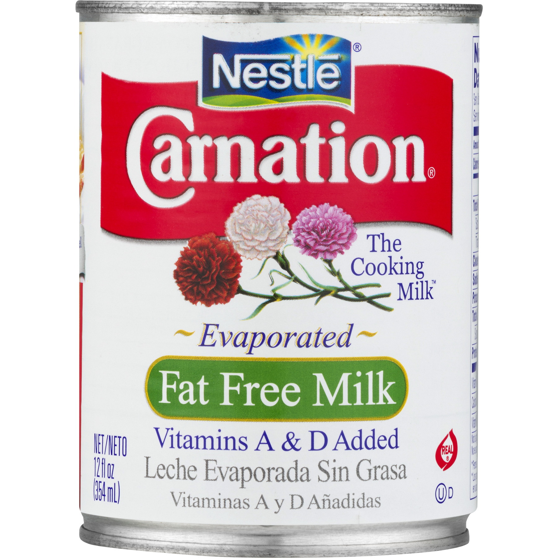 Carnation milk png. Fat free evaporated fluid