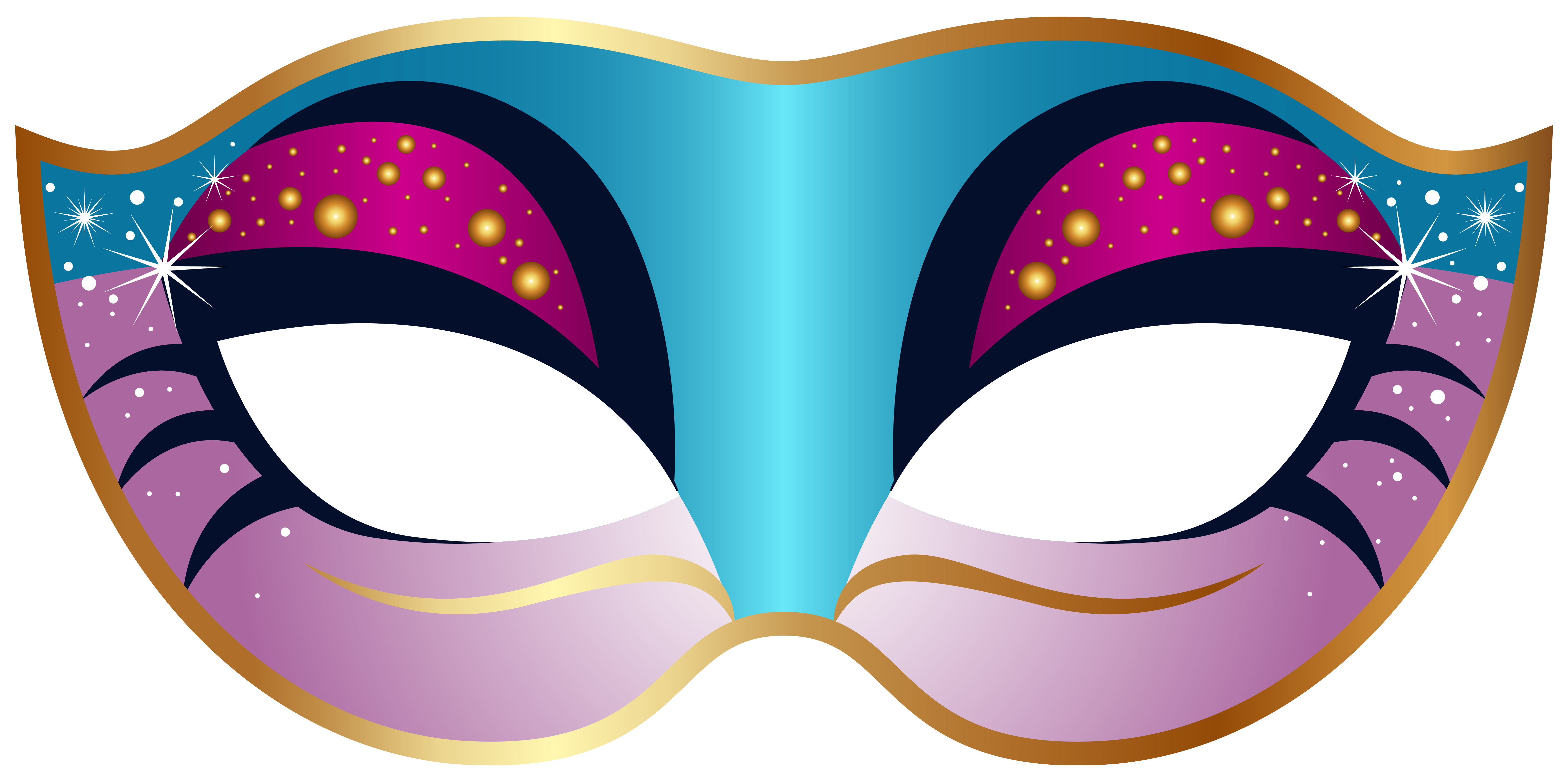 Carnival banner png. Blue and pink mask