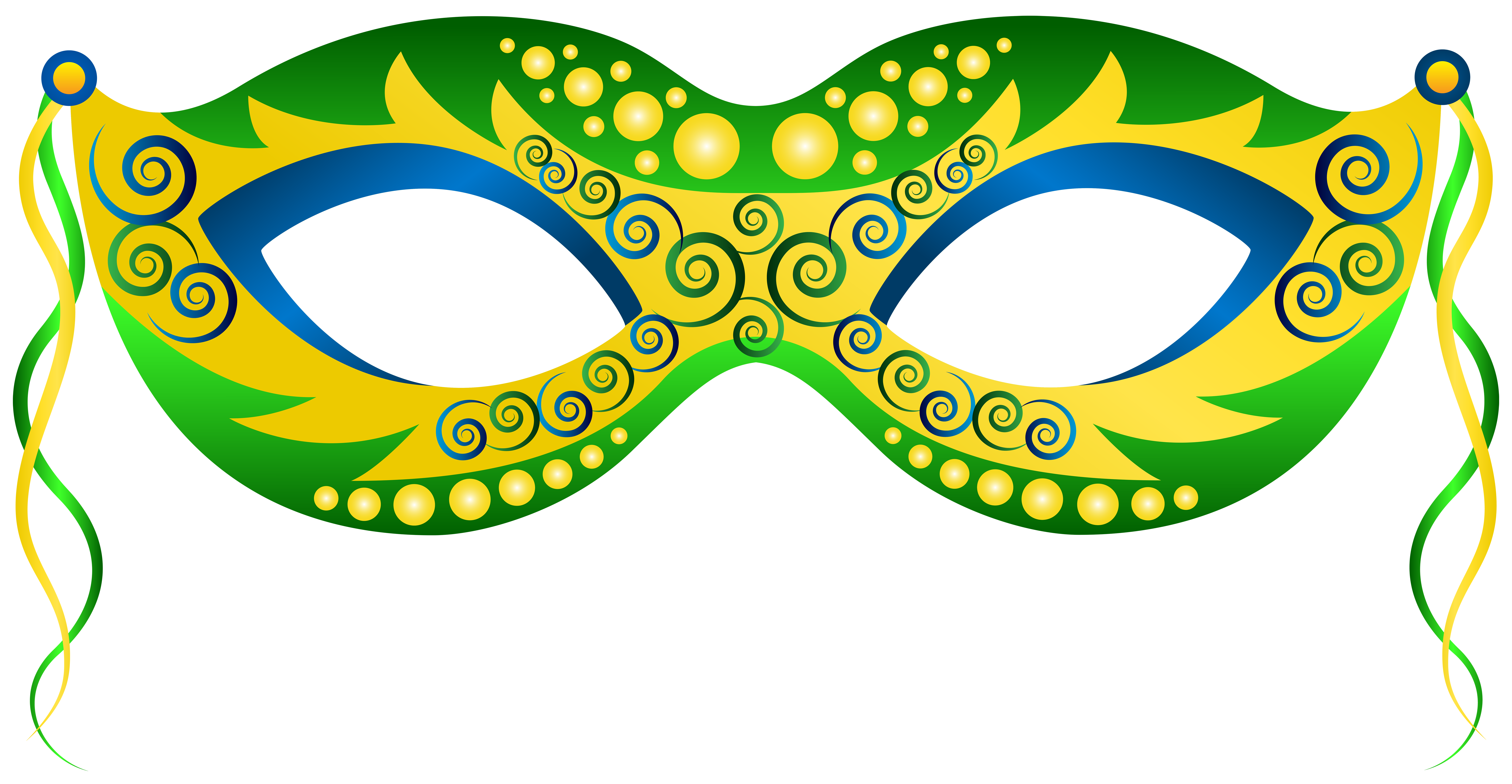 Green yellow carnival png. Mask clipart image royalty free