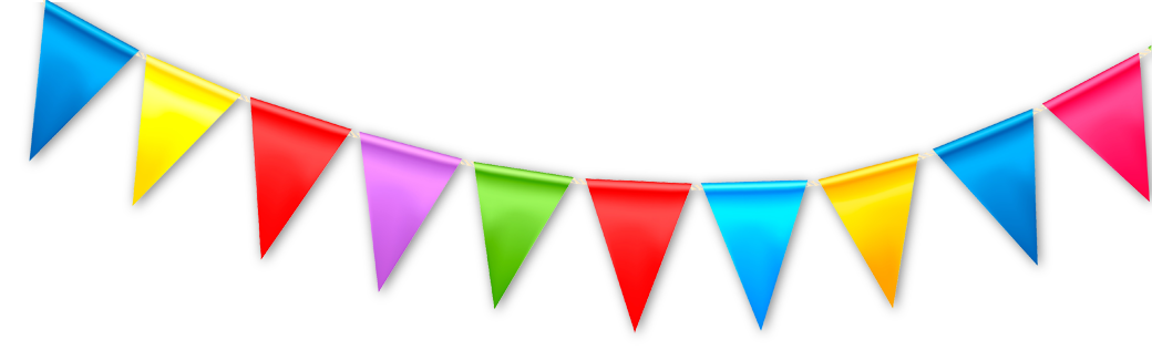 Carnival transparent bunting. Weekly e news childrens