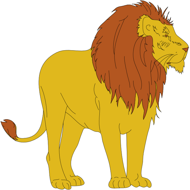Carnival transparent lion. Collection of free freer
