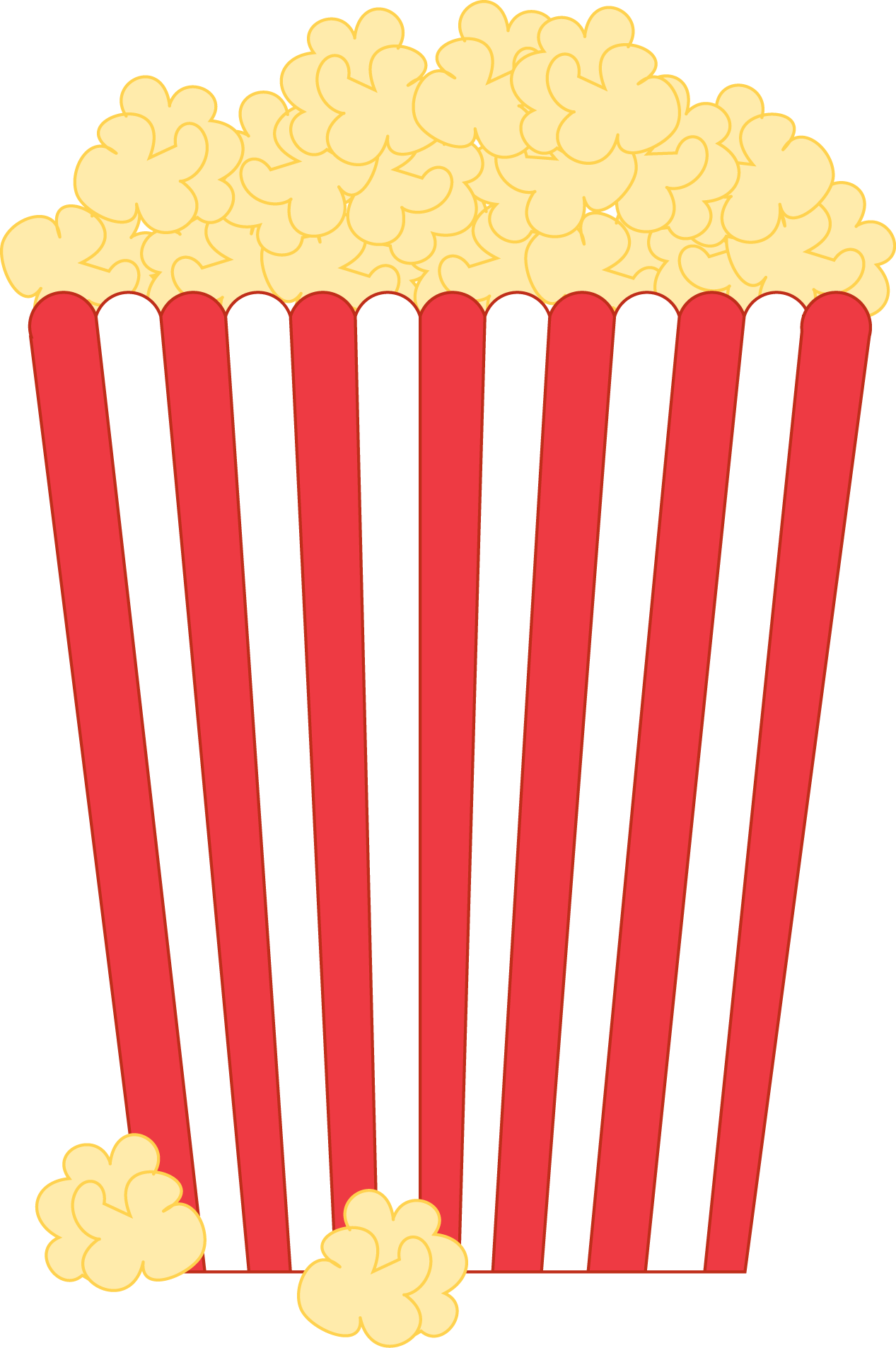 Carnival transparent popcorn. Food clipart library