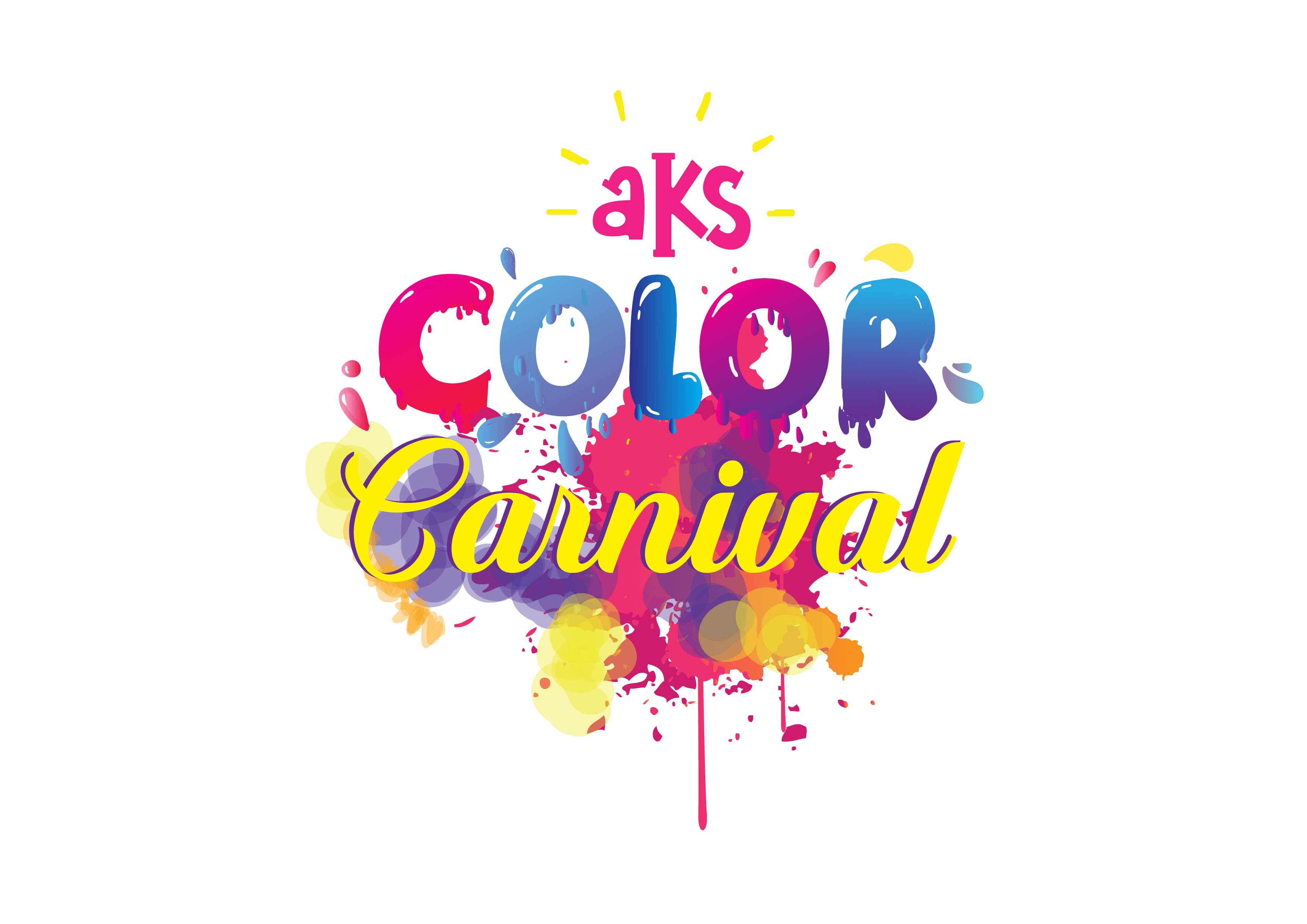 Carnival transparent text. Aks colour everything you