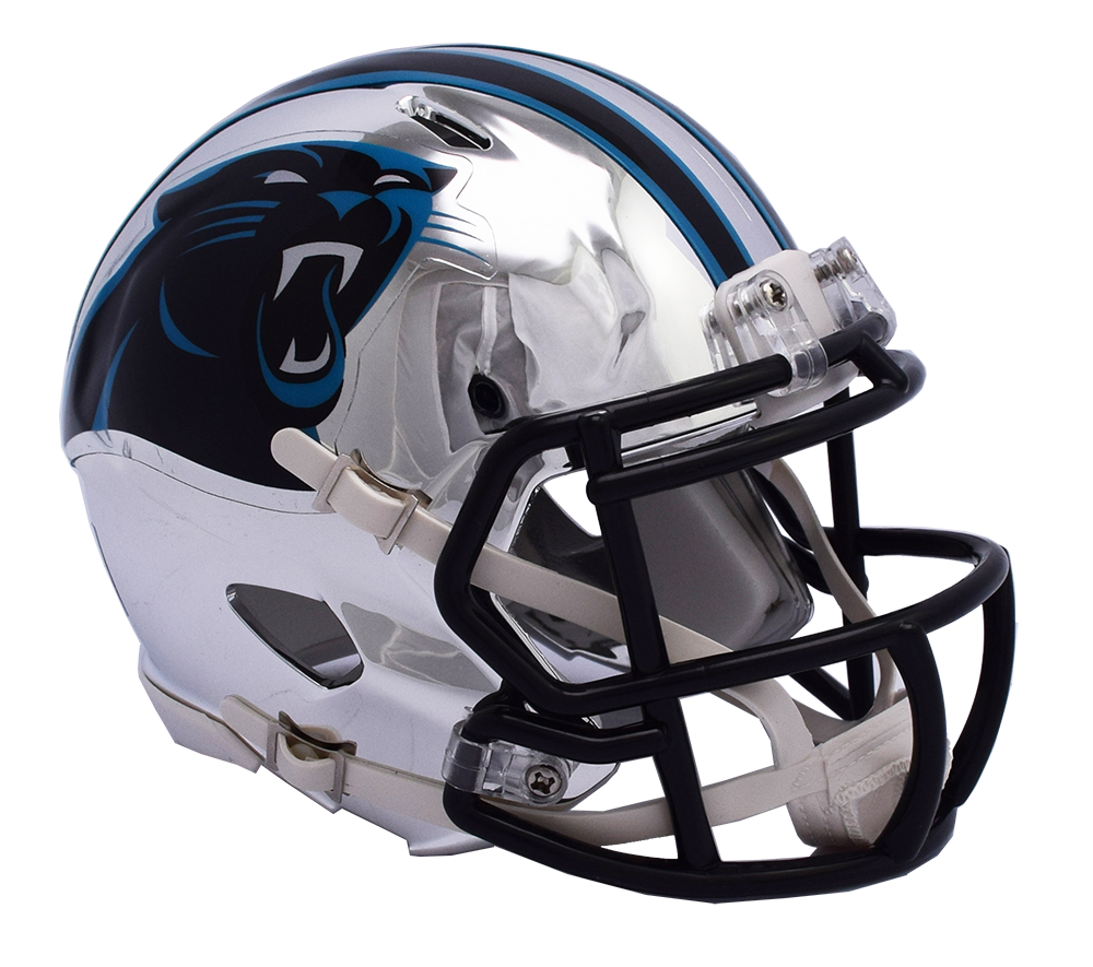 Carolina panthers helmet png. Chrome riddell speed authentic
