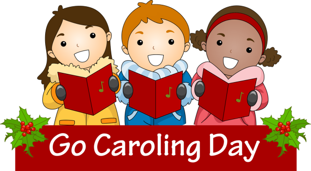 caroling clipart tradition