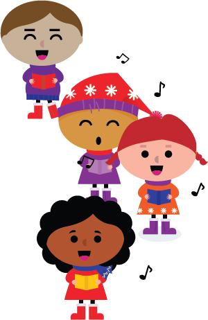 Caroling clipart tradition. Merrick festival competition coral