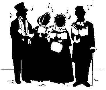 Caroling clipart tradition. Carolers book art pinterest