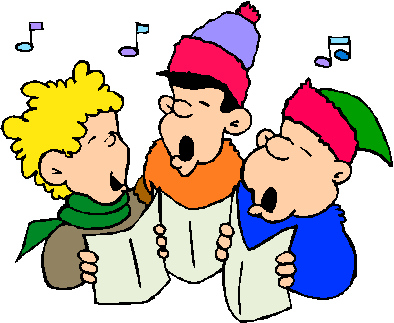 Caroling clipart tradition. The farnhams and hedgerley