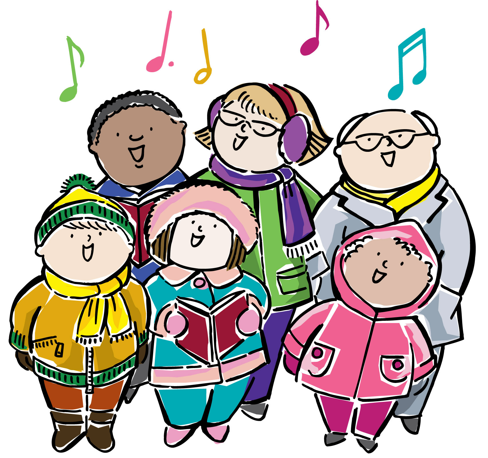Caroling clipart tradition. Mes to host annual