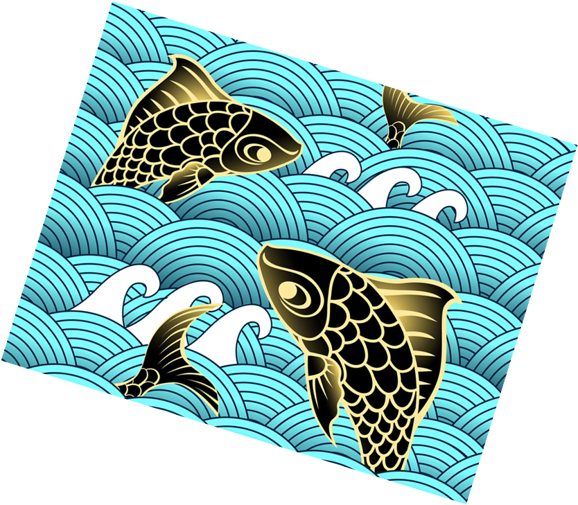 Carp drawing underwater. Clip art png library
