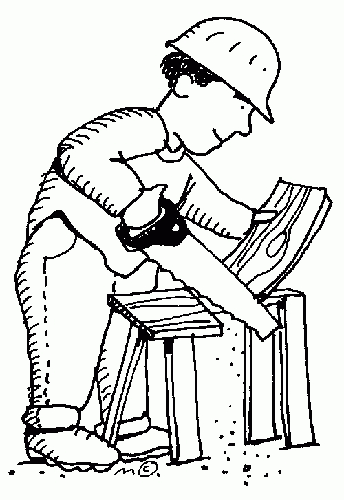 Carpenter clipart. Best of black and