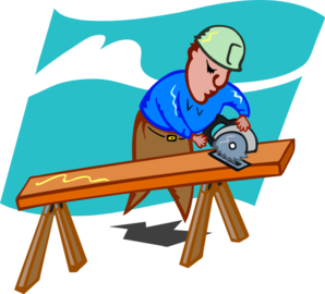 Carpenter vector carpentry tool. Clipart cartoon cute borders