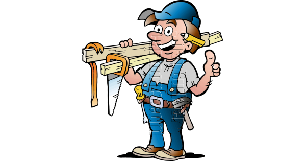 Carpenter vector handyman. With carpentry tools