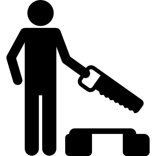 Sawing icons free download. Carpenter vector work silhouette stock