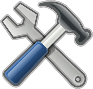 Trowel vector crossed. Free maintenance cliparts download