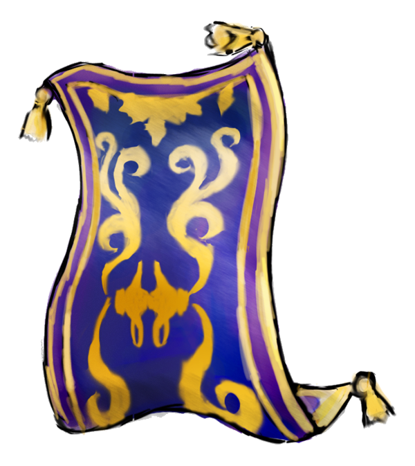 Aladdin magic free image. Carpet drawing picture free library