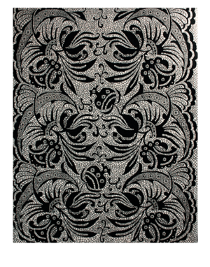 Carpet drawing design. Rc d hand knotted