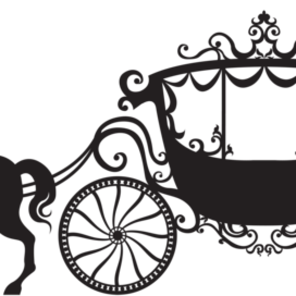 Carriage clipart cinderella theme. Free download silhouette png