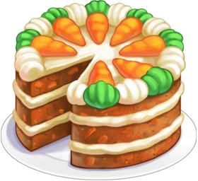 Carrot cake png. Image recipe chefville wiki