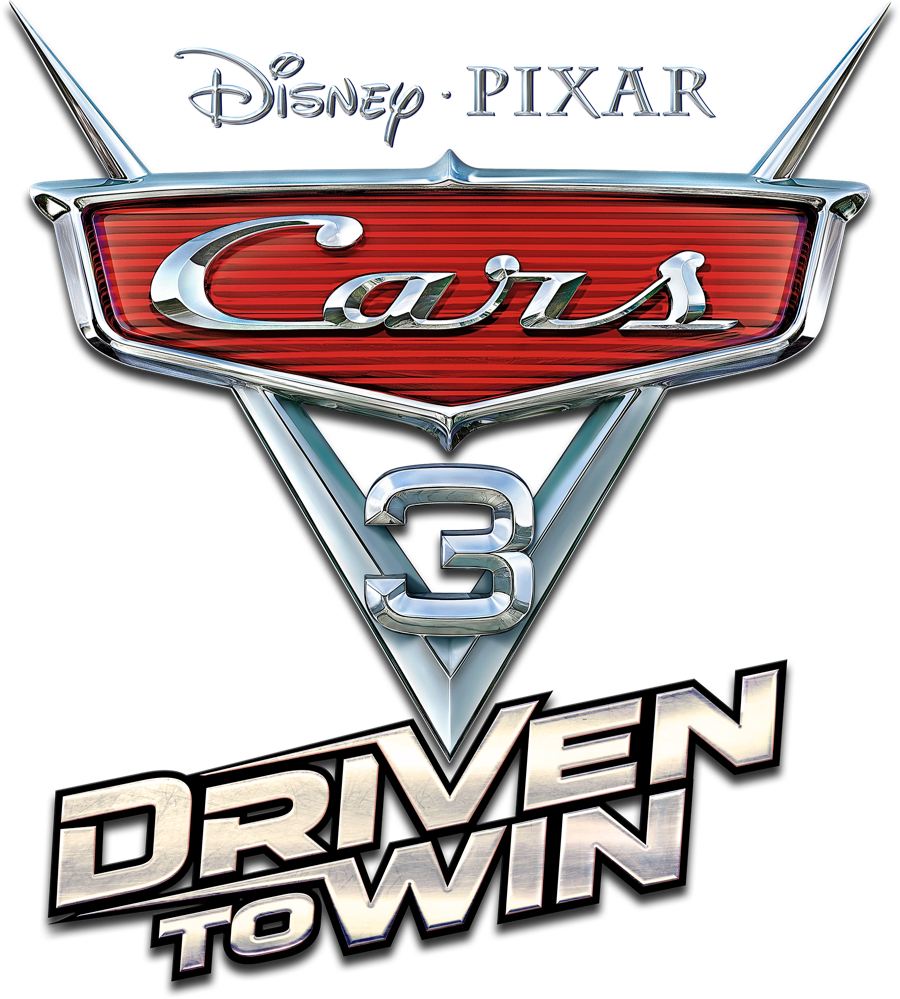 Cars 3 png. Logo images driven to