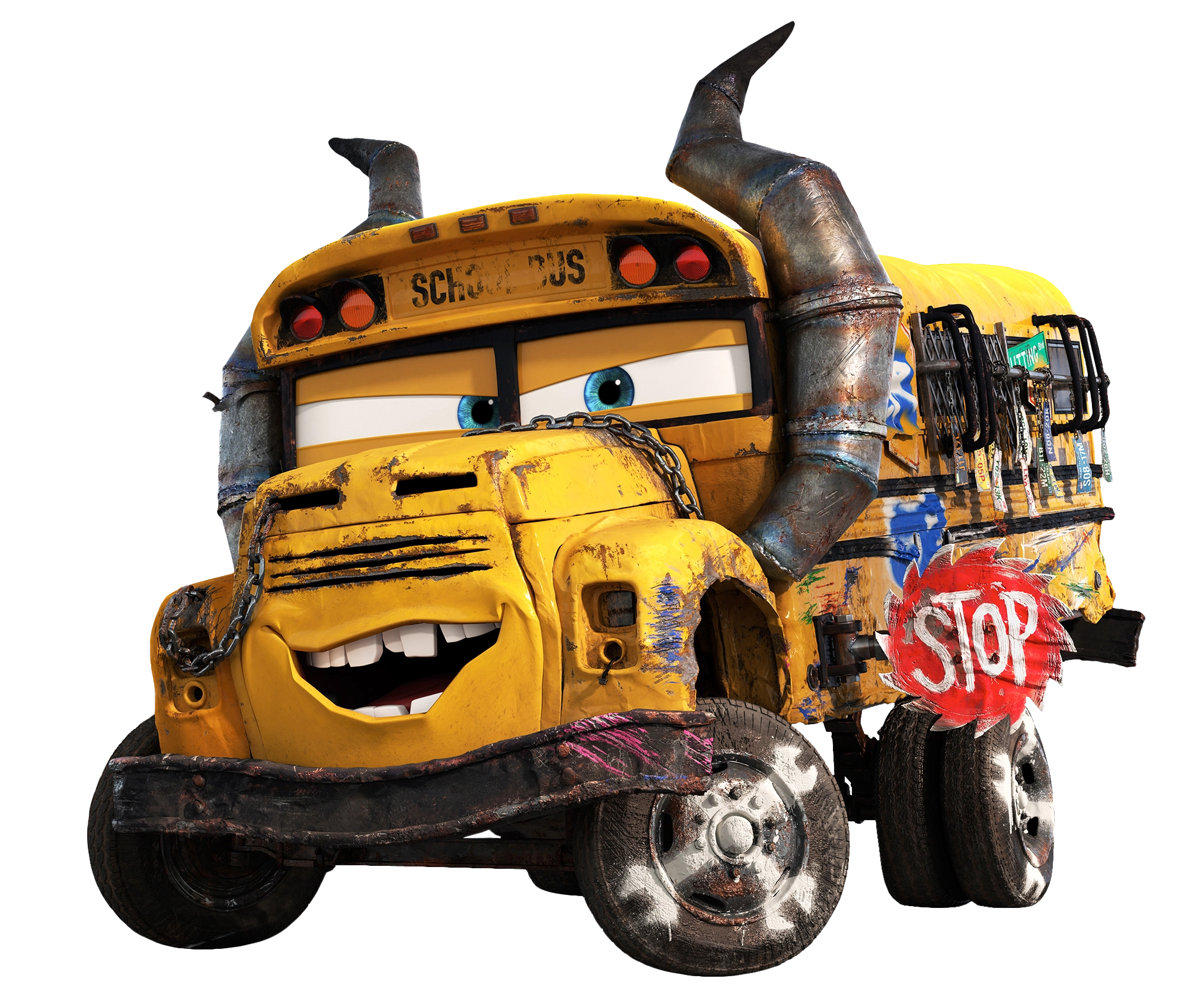 Cars 3 png. Miss fritter transparent image