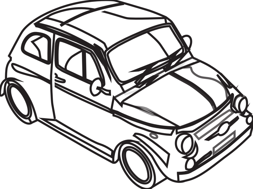 Cars transparent black and white. Collection of car