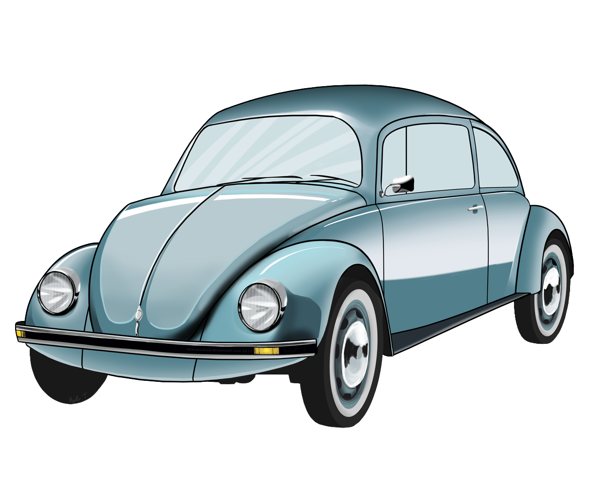 Image of classic car. Volkswagon drawing art picture free library
