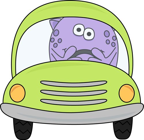 Clip art images monster. Driving clipart small car graphic transparent library