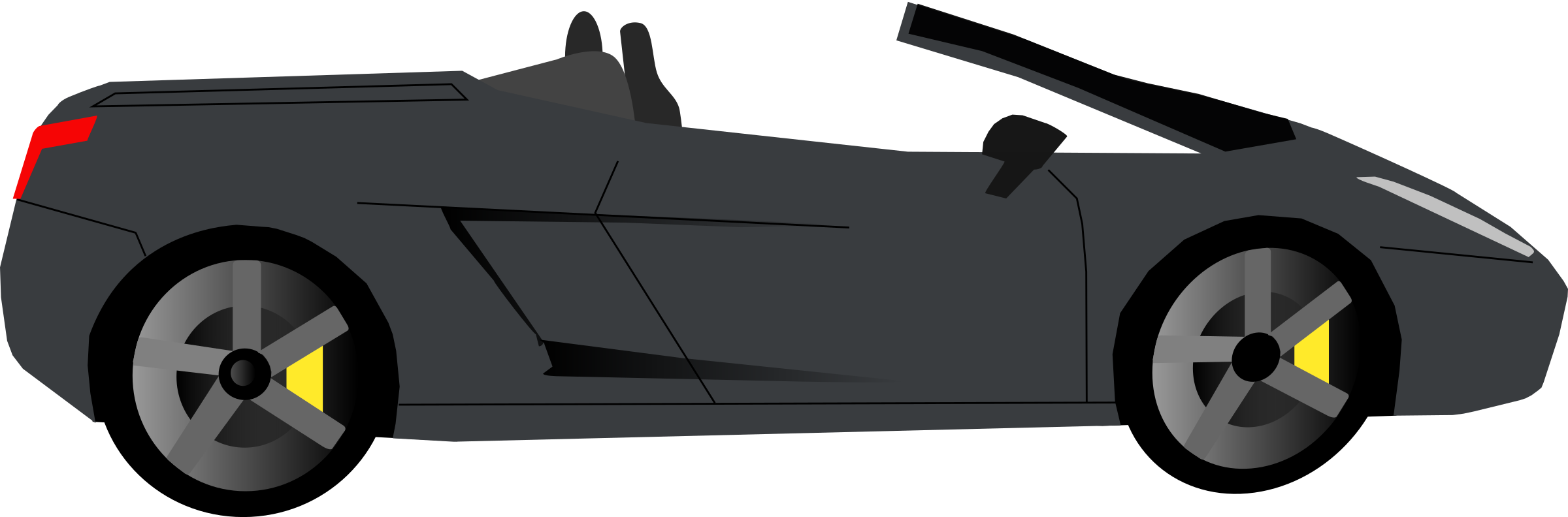 vector roads side view
