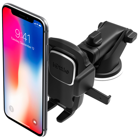 Dashboard clip phone car. Iottie easy one touch