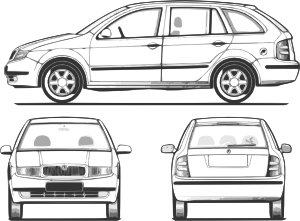 Vector sketches car. Fabia clip art at
