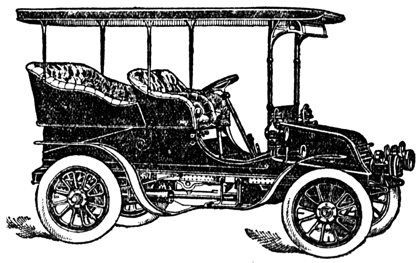 Cars clip old car. Vintage graphic royalty
