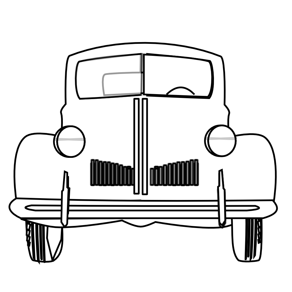 Impala drawing classic car. Free black and white