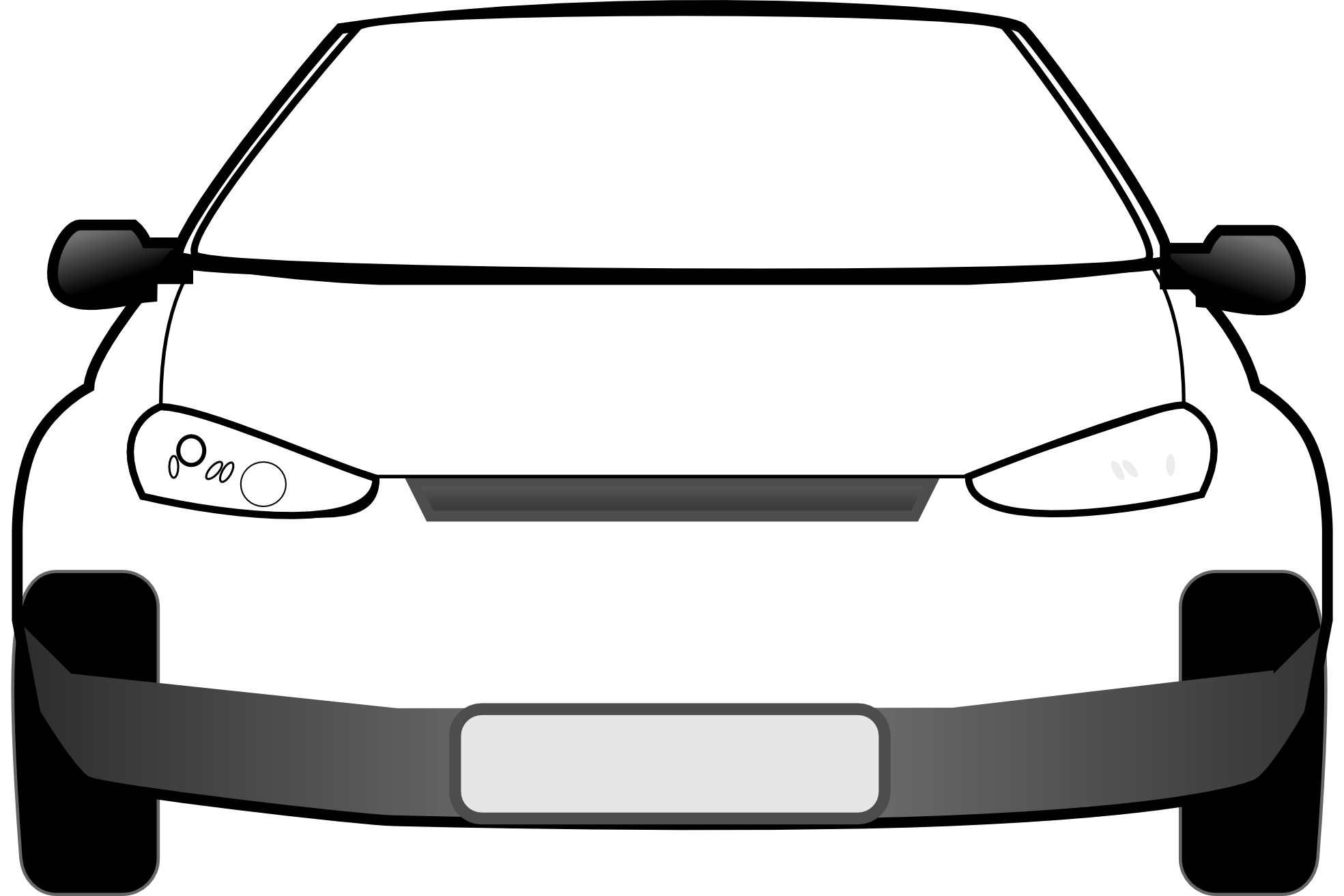 4x4 vector art. Black and white car