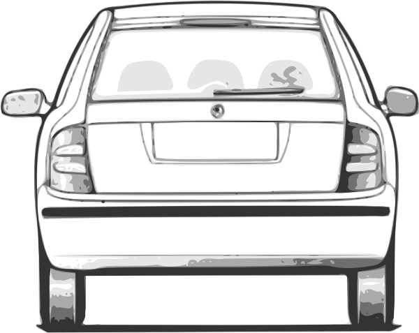 Fabia car view clip. Back clipart back side stock