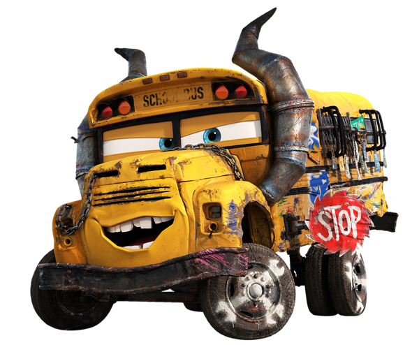 Cars pixar png. Miss fritter transparent image