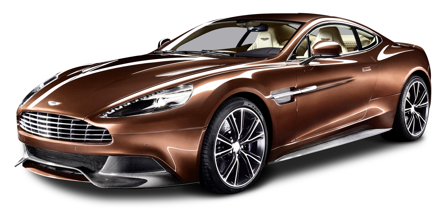 Cars transparent background. Aston martin vanquish car