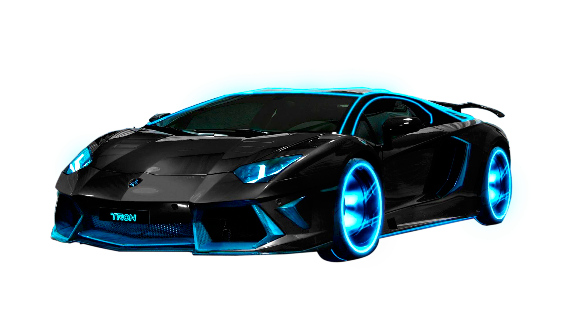 Cars transparent fast. Render car tron by