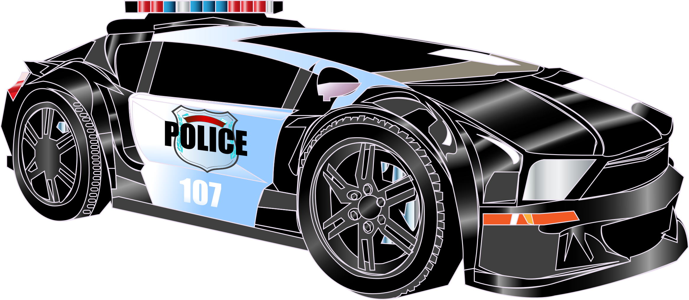 Cars transparent pdf. Police car graphic