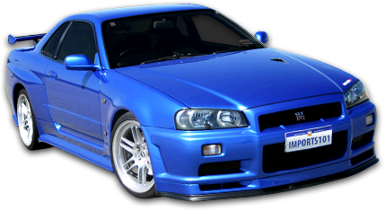 Cars transparent skyline. Nissan r gt v