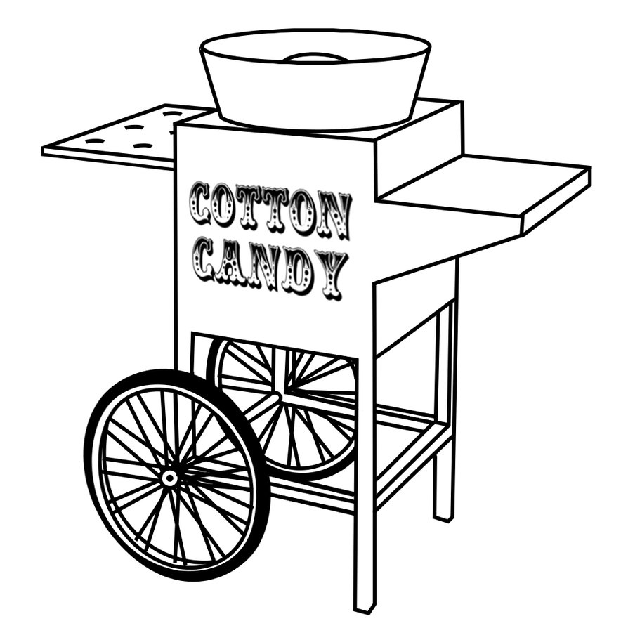 Cart clipart black and white. Drawing at getdrawings com