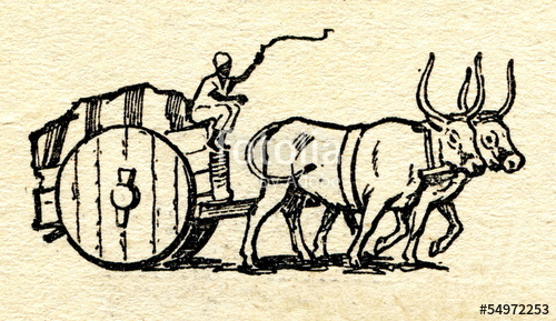 Cart clipart bullock cart. Drawing at getdrawings com