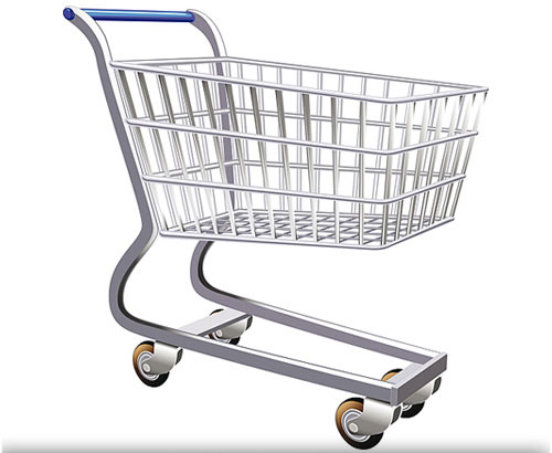 Cart clipart. Grocery coloring page shopping