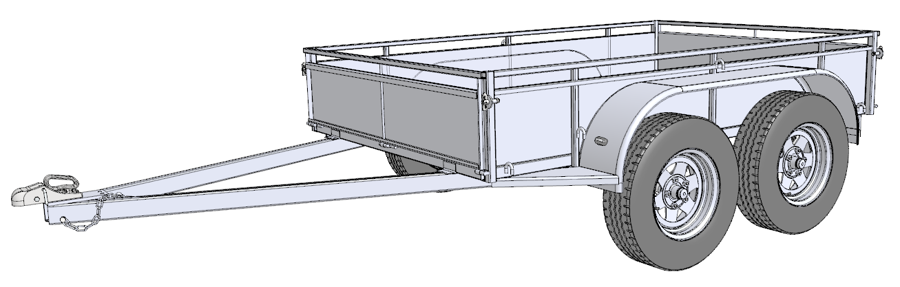 Cart drawing build your own. Trailer sauce free plans