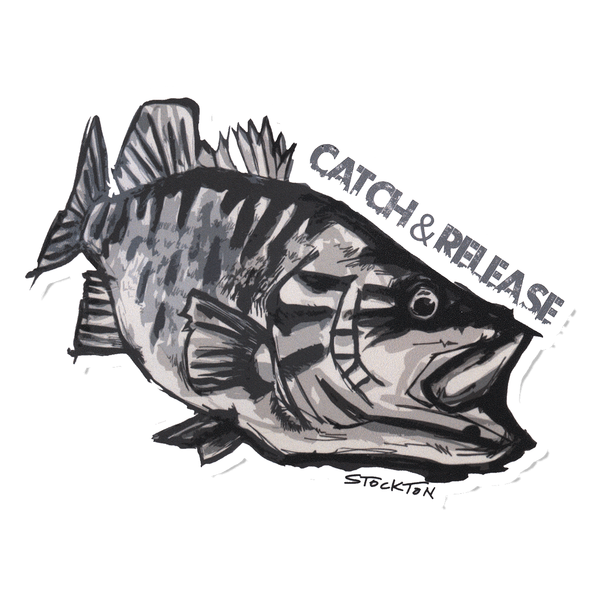 Matthew stockton smallmouth bass. Cart drawing bulla royalty free stock