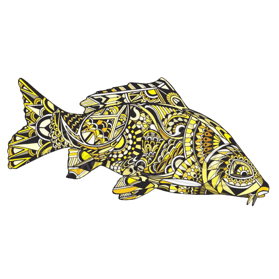 Andrea larko zentangle carp. Cart drawing bulla jpg black and white