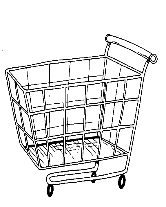 Cart drawing colouring page