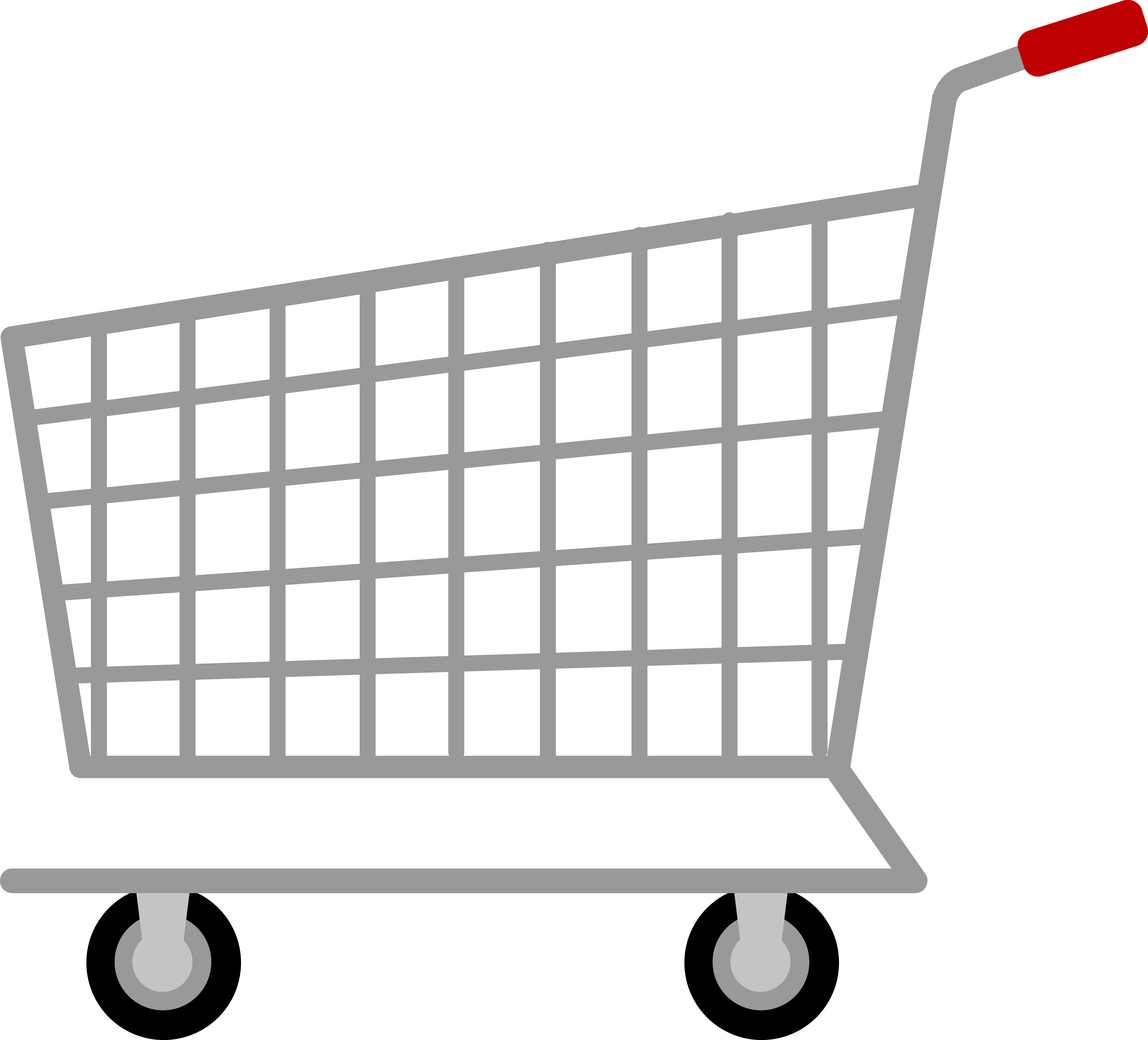 Trolley vector animated. Grocery basket clip