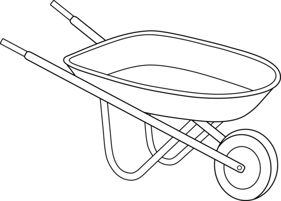 Wheelbarrow google search gardening. Cart drawing step by clip free download
