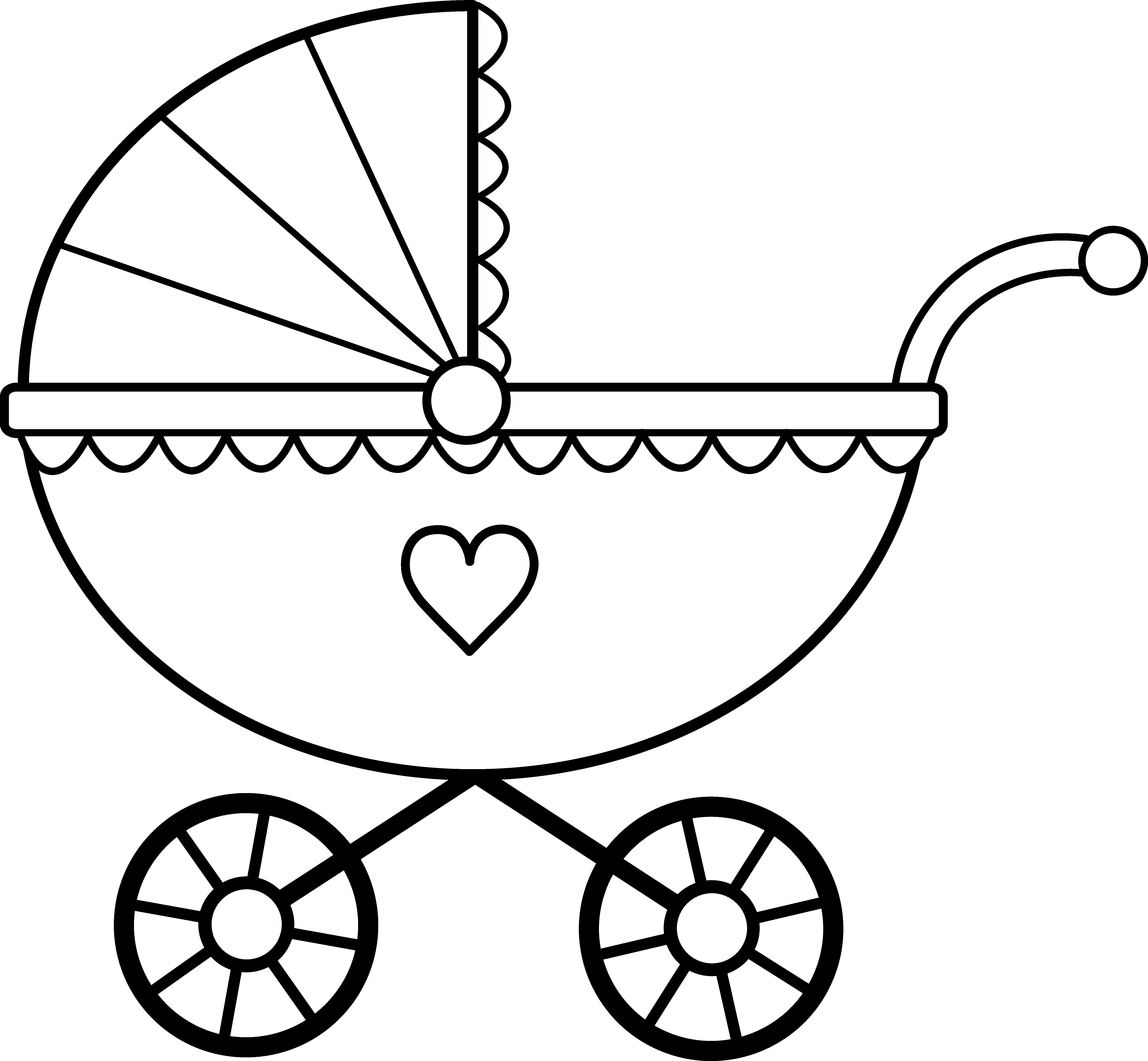 Cart drawing simple. Collection of baby